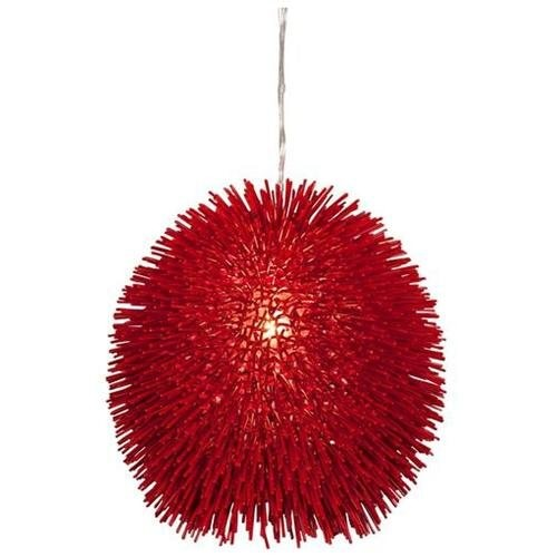 Varaluz Urchin Super Red Pendant - One Light Super Red