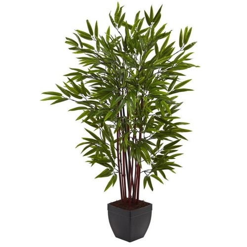 Nearly Natural 4' Bamboo Silk Tree with Planter