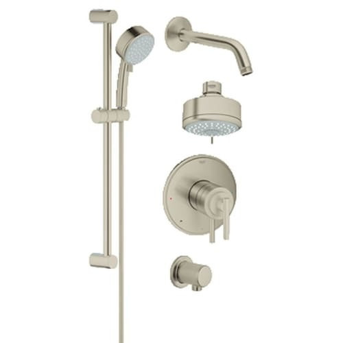 Grohe 35 055 GrohFlex Pressure Balanced Shower Faucet Package with DreamSpray Technology