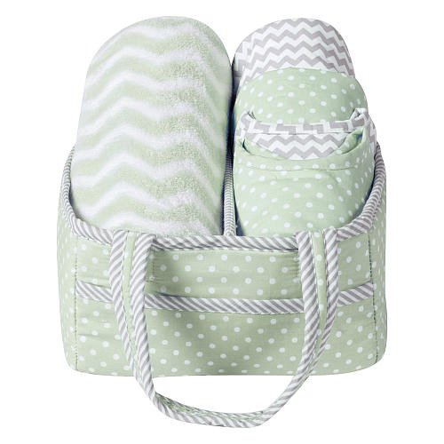 Trend Lab 6 Piece Sea Foam Baby Care Gift Set