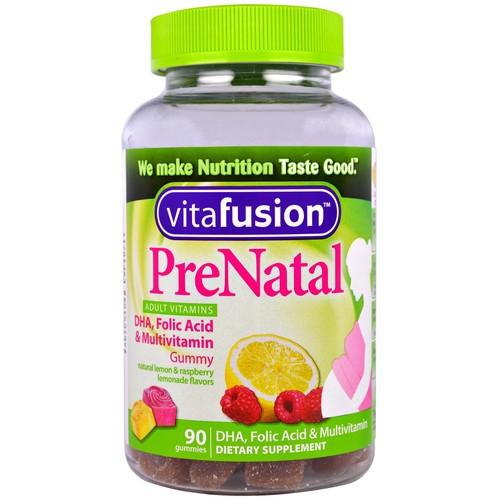VitaFusion, PreNatal, DHA, Folic Acid & Multivitamin, 90 Gummies