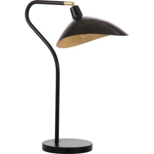 Giselle 30Inch H Adjustable Table Lamp Black - Safavieh
