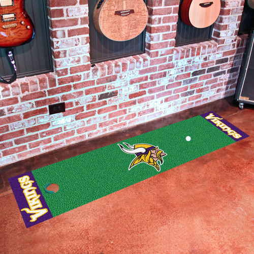 FanMats NFL Minnesota Vikings Putting Green Mat