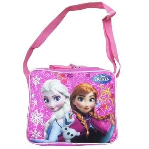 Lunch Bag - Disney - Frozen Princess Elsa+Anna Pink Kit Case New FCCOR22OM