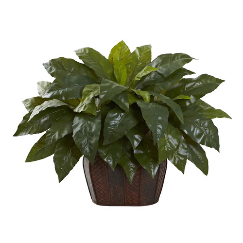 Nearly Natural 6834 27-in Giant Birdsnest Fern with Decorative