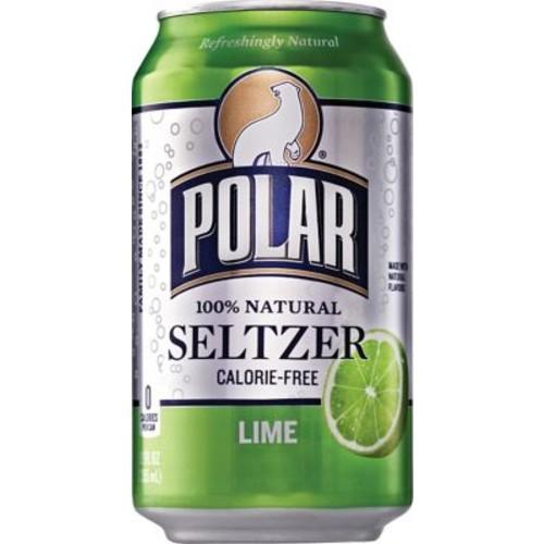Polar Lime Seltzer, 12 oz. Cans, 24/Pack
