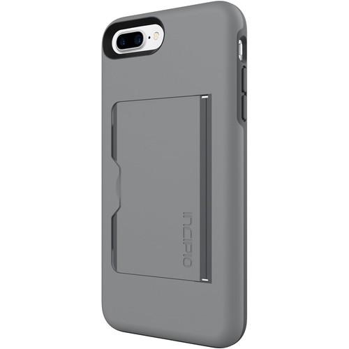 Incipio - STOWAWAY Case for Apple iPhone 7 Plus - Gray/Charcoal