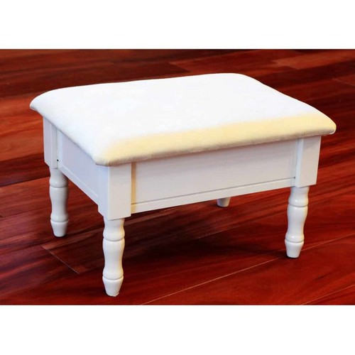 Queen Anne Style Wood Ottoman