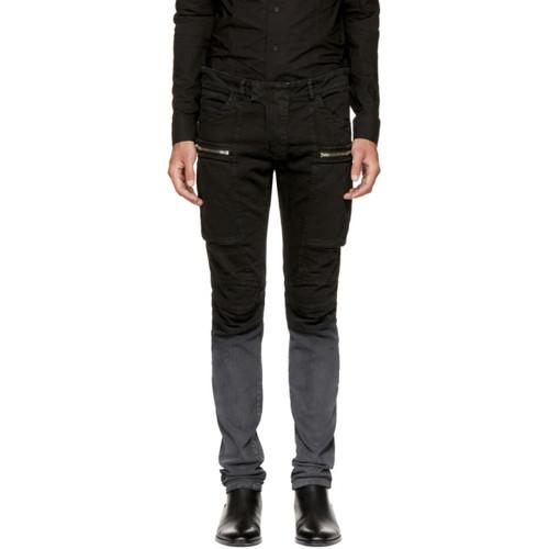 BALMAIN Black Denim Cargo Pants