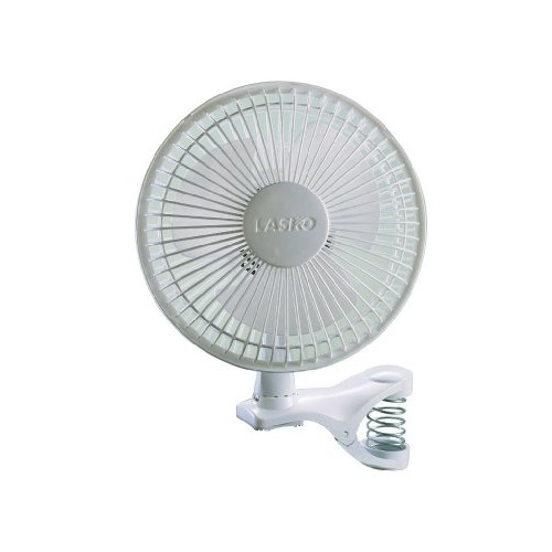 Lasko #2004W 6-Inch 2-SPEED White Clip Fan [Standard Packaging]