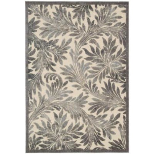Nourison Graphic Illusions Ivory 3 ft. 6 in. x 5 ft. 6 in. Area Rug