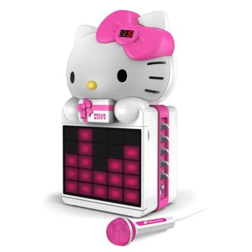Hello Kitty CD+G Karaoke System with LED Light Show KT2008B