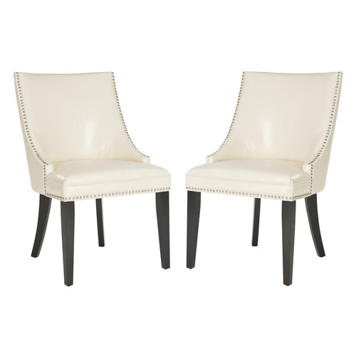 Safavieh 2-pc. Afton Bicast Leather Side Chair Set