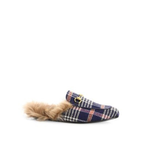 GUCCI Princetown Fur-Lined Slippers