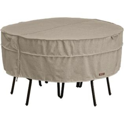 CLASSIC ACCESSORIES MONTLAKE FADESAFE ROUND PATIO TABLE & CHAIR SET COVER-LARGE