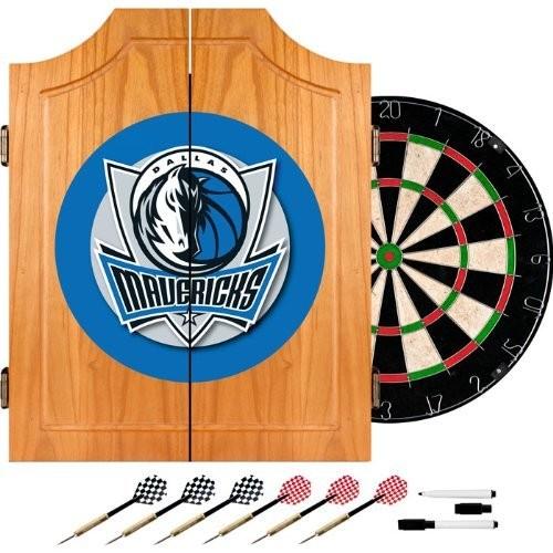 NBA Dallas Mavericks Wood Dart Cabinet Set
