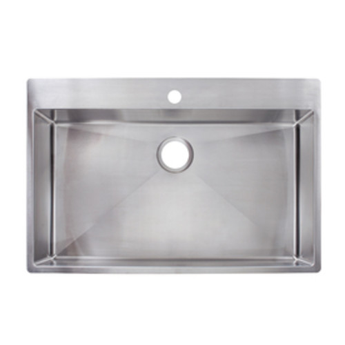Franke Fast-in 33.5-in x 22.5-in Single-Basin Stainless Steel Drop-in or Undermount 1-Hole Commercial/Residential Kitchen Sink