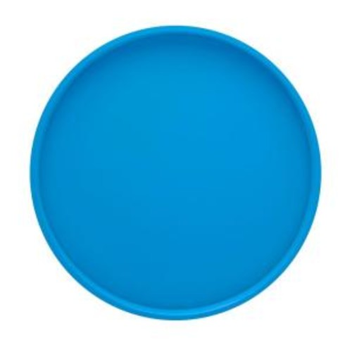 Kraftware 14 in. Round Serving Tray in Process Blue