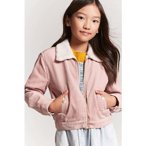 Girls Faux Shearling Corduroy Jacket (Kids)
