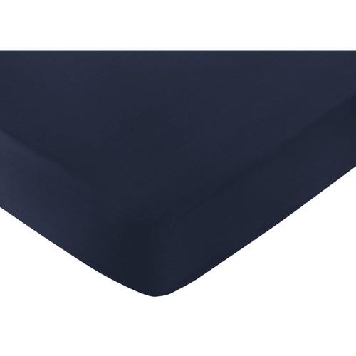 Sweet Jojo Designs Space Galaxy Dark Blue Fitted Crib Sheet