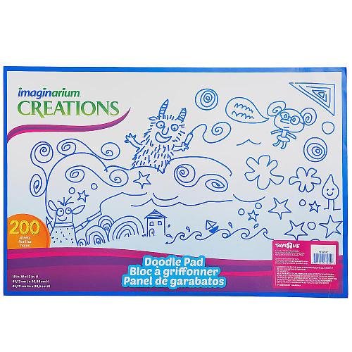 Imaginarium Creations 200 Sheet Doodle Pad