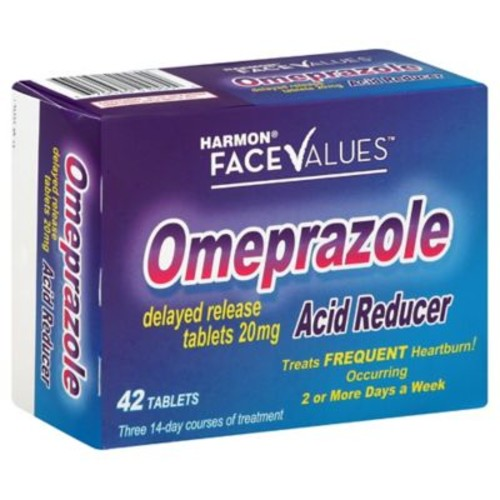 Harmon Face Values 42-Count Omeprazole Tablets