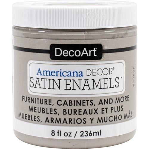 Decoart Americana Decor Satin Enamels 8oz GreyTaup