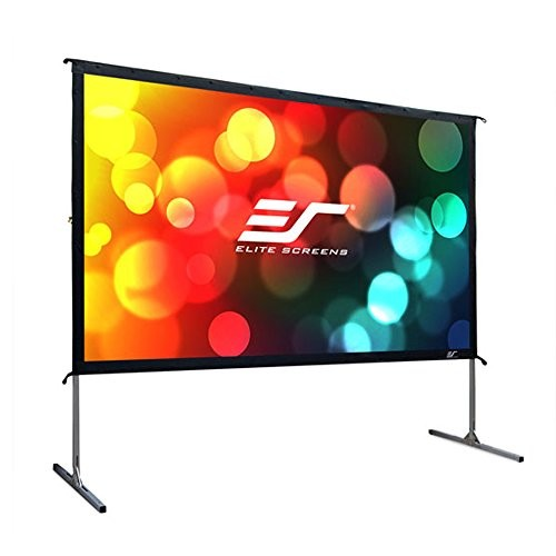 Elite Screens Yard Master 2, 110-inch 16:9, 4K Ultra HD Ready Portable Foldaway Movie Theater Projector Screen, Rear Projection - OMS110HR2 [Rear Projection, 16:9, 110-inch, YardMaster 2]