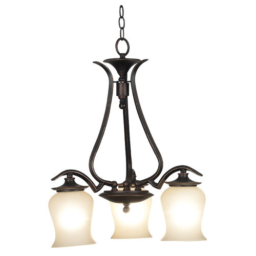 Kenroy Home Bienville 3-Light Oil-Rubbed Bronze Chandelier
