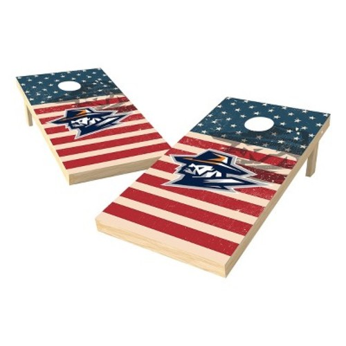 NCAA Wild Sports Worn Shadow Stars and Stripes 2x4 ft. Cornhole Bean Bag Toss Set