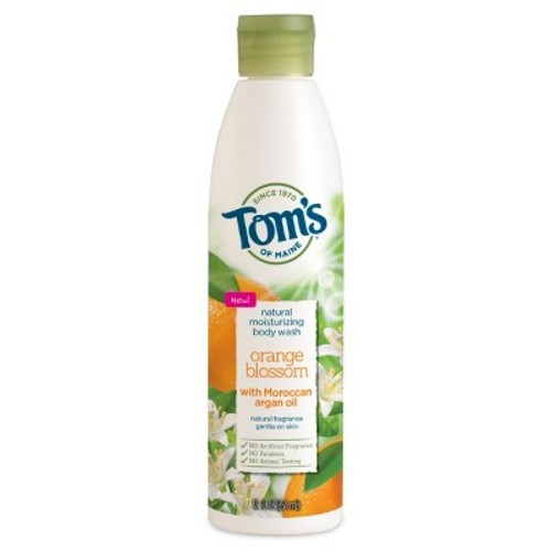 Tom's of Maine Natural Moisturizing Body Wash Soap with Moroccan Argan Oil, Orange Blossom, 12 oz [Orange Blossom]