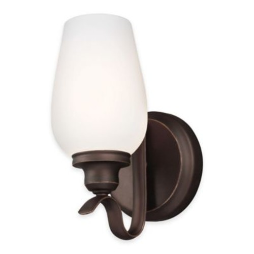 Feiss Standish 1-Light Wall Sconce in Oil-Rubbed Bronze with CFL Bulb