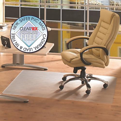 Cleartex Advantagemat Rectangular Chair Mat, Poly, 36