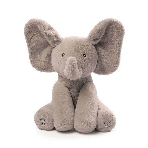 Flappy the Elephant Animated Plush, Gray
