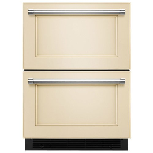 KitchenAid 24 in. W 4.7 cu. ft. Double Drawer Refrigerator Freezer in Panel Ready, Counter Depth