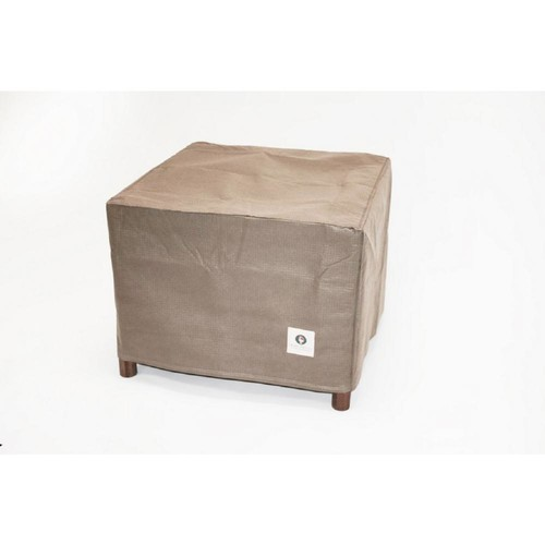 Duck Covers Elite 32 in. Tan Square Patio Ottoman or Side Table Cover