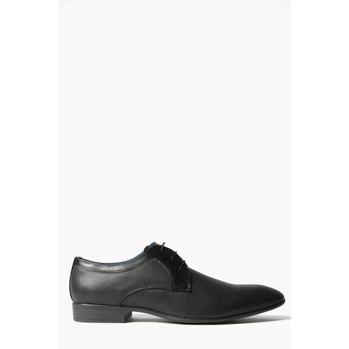 Black Textured Lace Up Smart Shoes