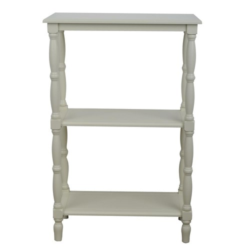 Decor Therapy Simplify Off-White 3-Tiered Bookcase