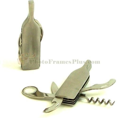 Bey Berk Stainless Steel Multifunctional Corkscrew & Bottle Opener