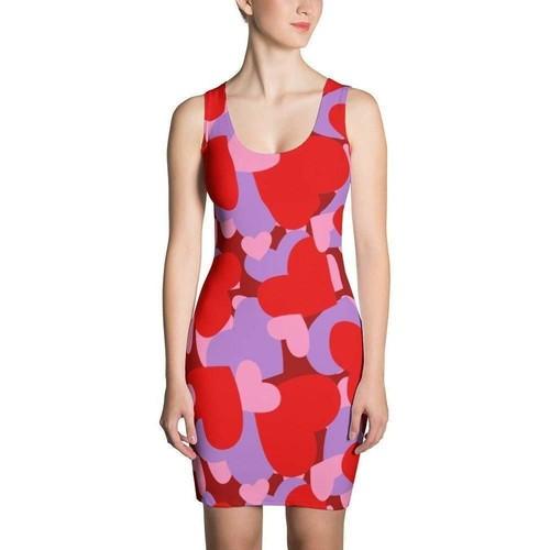 Women's Hearts CAMO Dress