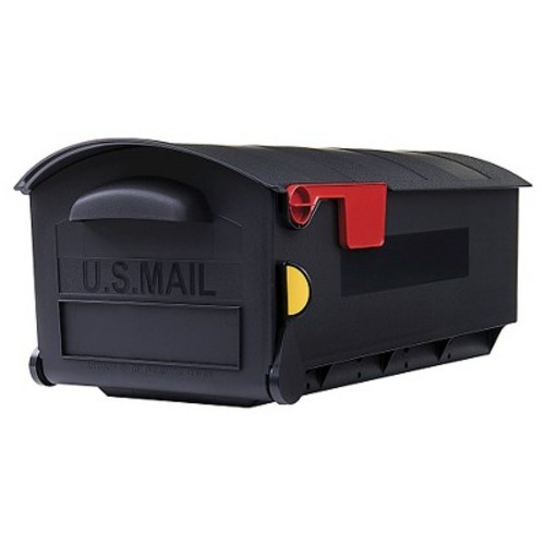 Gibraltar Mailboxes Patriot Large Capacity Rust-Proof Plastic Black, Post-Mount Mailbox, GMB515B01 [Patriot Large]