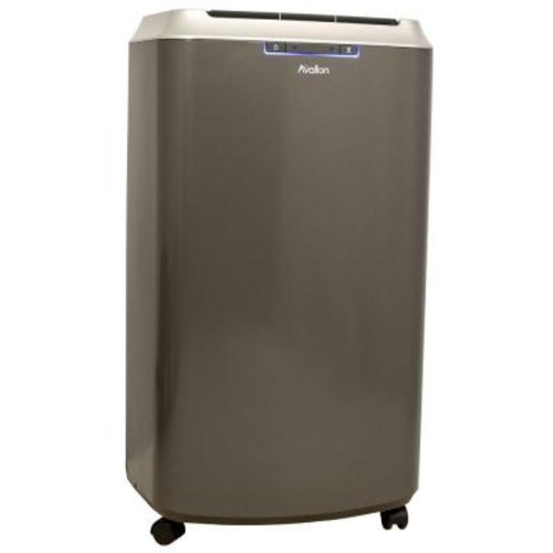 Avallon 14,000 BTU Dual Hose Portable Air Conditioner with Cool and Heat InvisiMist Smart Drain Dehumidifying Technology