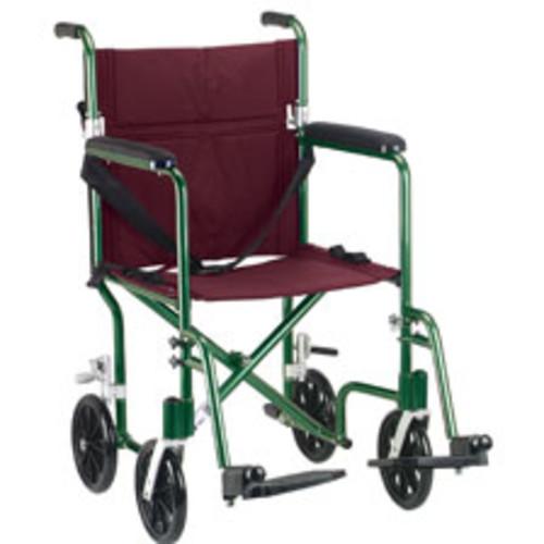 Drive Medical Flyweight Folding Transport Wheelchair, 19\