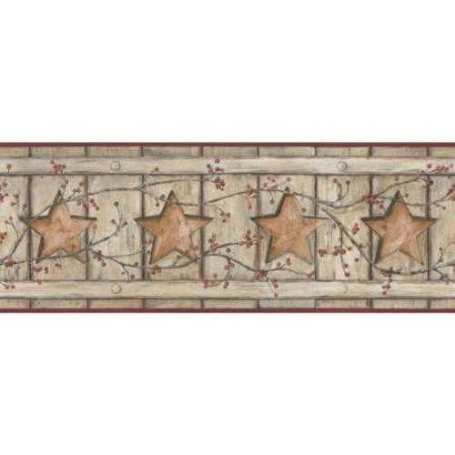 York Wallcoverings Country Keepsakes Country Cutout Star Wallpaper Border