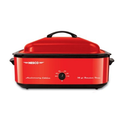 Nesco 4818-22 18-Quart Red Roaster Oven w/Porcelain Cookwell 95th Anniversary Edition