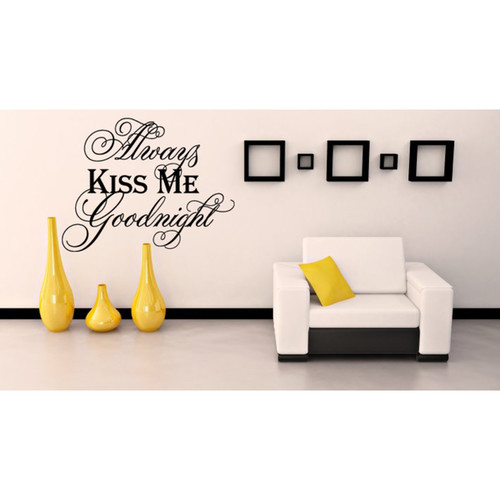 Always kiss me goodnight Wall Art Sticker Decal