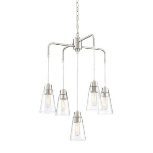 Designers Fountain Echo 5-Light Satin Platinum Chandelier