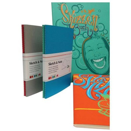 Hahnemuhle Sketch and Note Booklet Bundle, Blue/Green 10628881