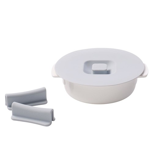 Villeroy & Boch Clever Cooking 4-Piece 6 in. Round Casserole Set with Silicone Lid and Handles