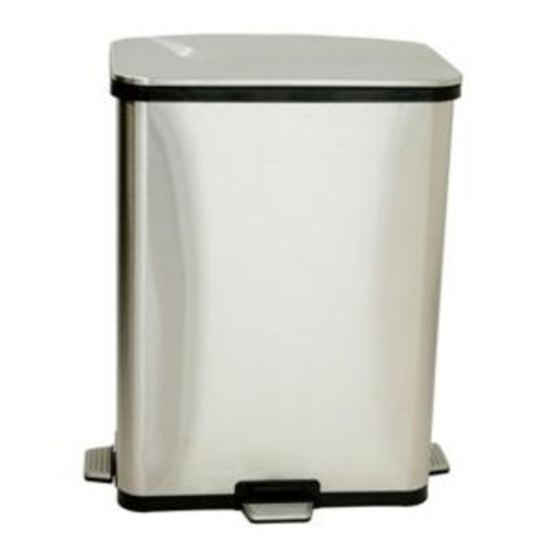 iTouchless 13 Gal. Fingerprint-Proof Stainless Steel Step-Sensor Trash Can
